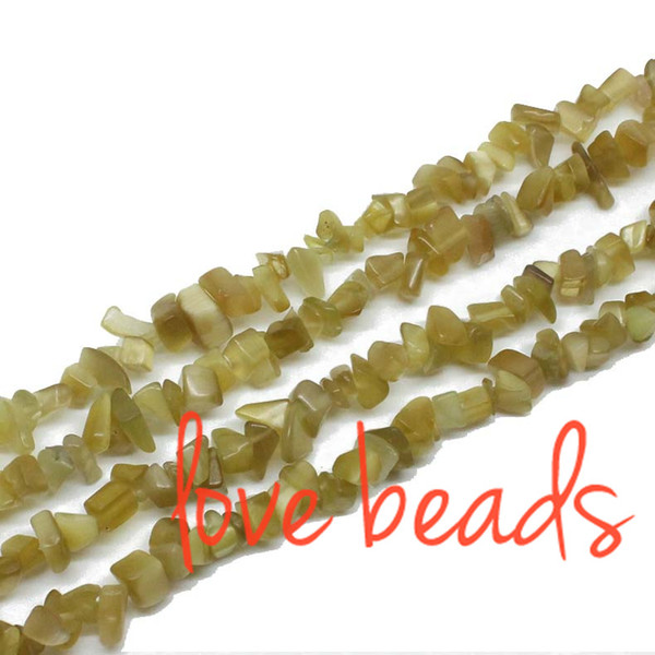 Yellow Cats Eye Chips Beads Stone Loose Beads 5mm-8mm Irregular Gravel Strand 80cm For Woman wholesale(F00280) wholesale