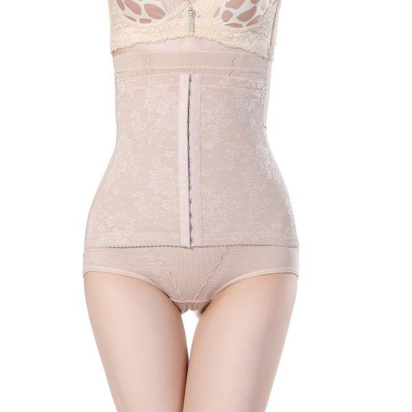 2 colors Female Butt-lifting Abdomen Panty Seamless Brow buckle Slimming Belt Briefs High Waist Body Shaping Panties Female Underwear