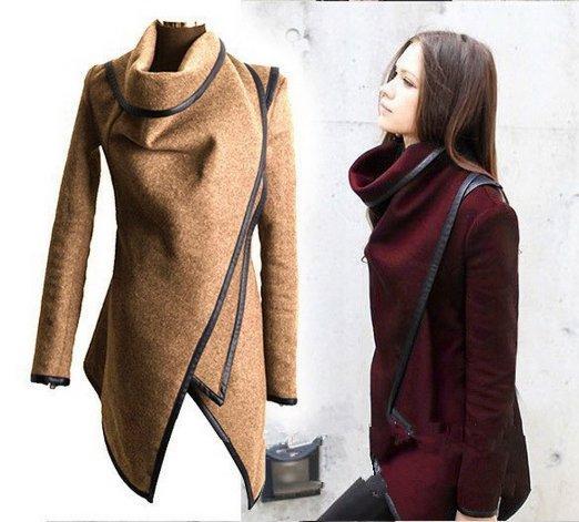 Winter 2018 Oberbekleidung Herbst Dünne Damen Wolle Hs017 Von Mäntel Lby888 Neue Großhandel Reißverschluss Gespleißt Lange Beiläufige Jacken stQrdCh