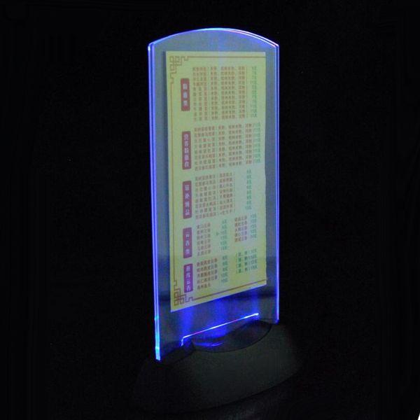 LED Boisson Liste LED Menu LED Table Menu Restaurant Hôtel Bars KTV Night Club Alimenté par AAA Batterie Livraison gratuite