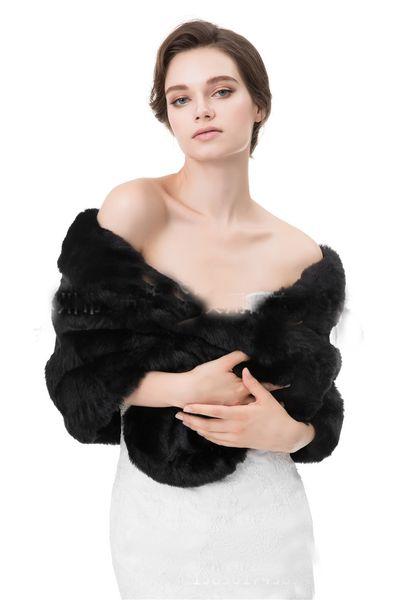 Newest 2017 10 Colors Winter Warm Wedding Bridal Wraps & Jackets Fur Faux Bridal Bolero