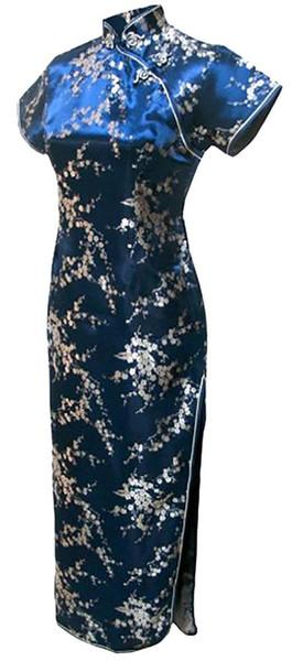 Envío gratis vestido de estilo chino China Qipao vestido vestido de noche largo vestido de boda cheongsam vestido de boda tradicional chino multicolor