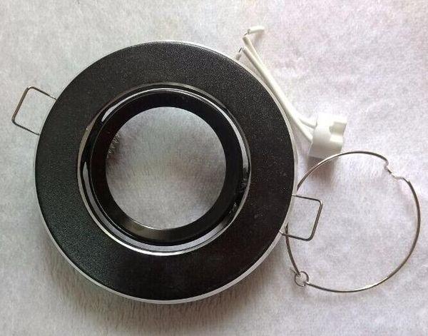 10 PCS CONDUZIU a luz de teto MR16 soquete do suporte de luz \ led lâmpada copo luminárias de alumínio 602L preto
