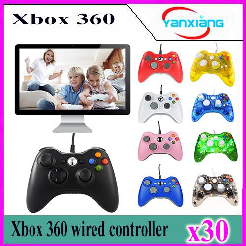 best selling 30pcs Xbox360 Controller New USB Wired Gamepad Controller For MICROSOFT Xbox 360 PC Computer YX-360-02