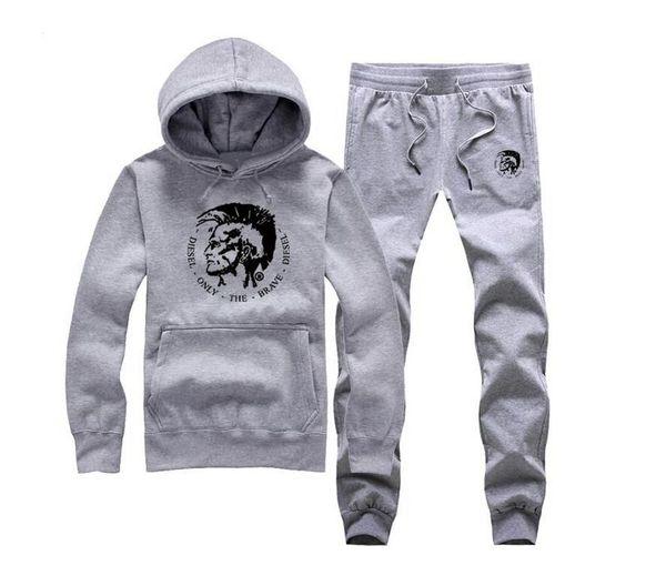 W00570 New Arrive Winter Fashion Tracksuits Men Diamond Supply zipper Male Sport Jacket Pants Sweatshirt sweat suit