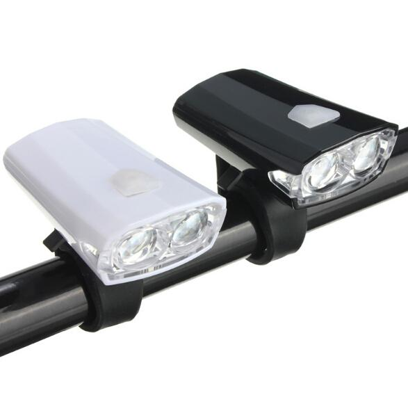 Rechargeable USB Cycling LED Front Head Rear Light Headlamp free shipping