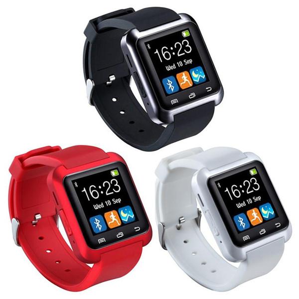 Bluetooth Smart Uhr U8 U80 für Samsung HTC Huawei Telefon Mode lässig IOS Android Smartwatch LED Digital Sportuhr
