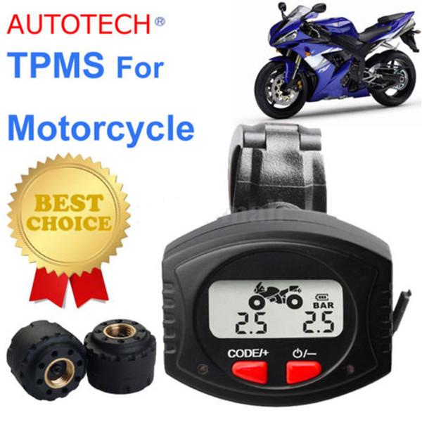 TPMS Hohe qualität Motorrad Fahrrad DIY Reifen Druck Monitor System + 2 Sensoren Für Zweirad Motorrad Motorrad