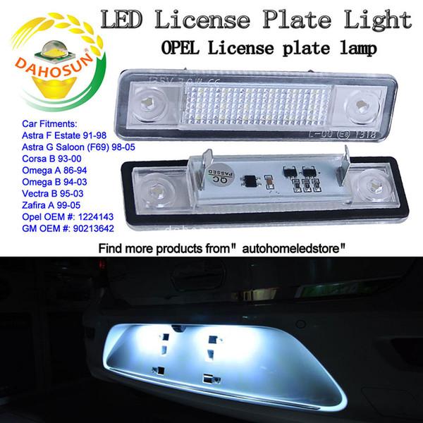 Acheter X Remplacement LED Pour Éclairage De Plaque D'immatriculation LED  Licence N ° 1 Pour Opel Astra Corsa Omega De $14.07 Du Autohomeled | ...