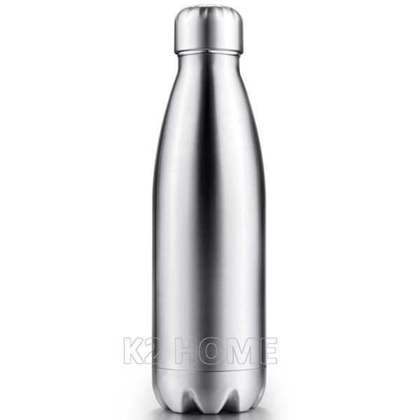 Wholesale- Vacuum Insulated Water Bottle 500ml Bowling Cola Shape Travel Mug Double Wall Sport Bottle Keep Drink Hot and Cold for Outdoor