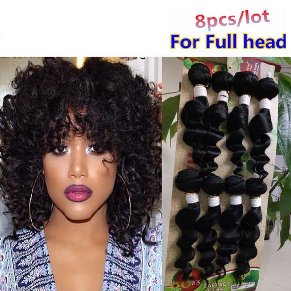 Grade 8a 8pcs per pack for full head Mink Brazillian Unprocessed Human Hair Wholesale Wet And Wavy Brazilian Hair Weave Bundles