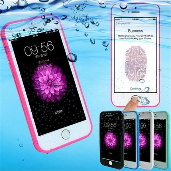 For iphone 7 6 100% Sealed Waterproof TPU case Front+Back full body cover underwater smart touch cases for iphone 5 5s se 6 6s 7 plus