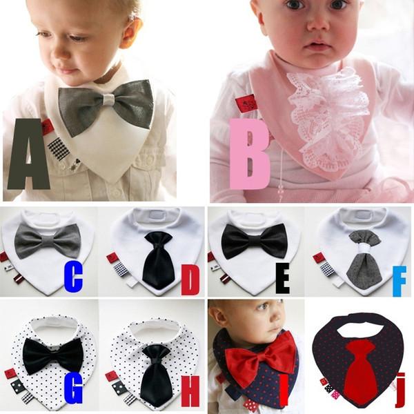 Bavaglino PrettyBaby Bavaglino unisex in cotone per neonato baby con bavero bowknot bandana bavoir bavaglino con papillon bavaglino neonato