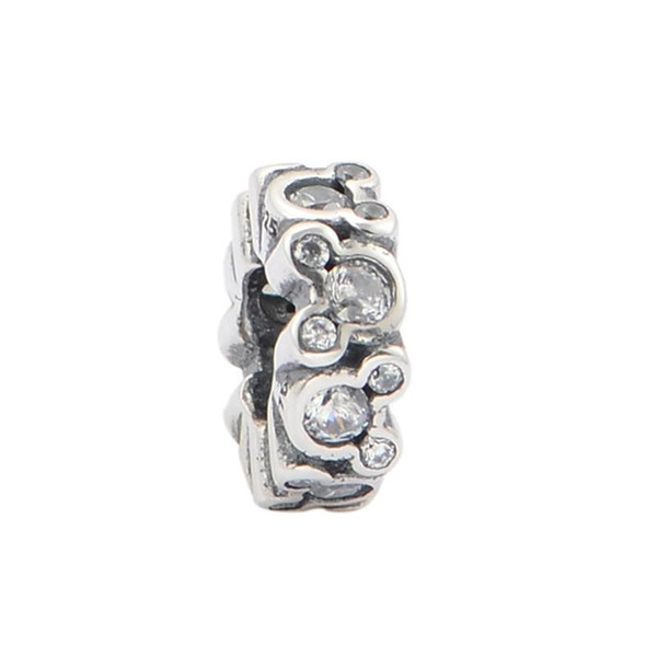 Silver mouse charm jewelry S925 Sterling silver slide fits pandora style bracelet free shipping LW475