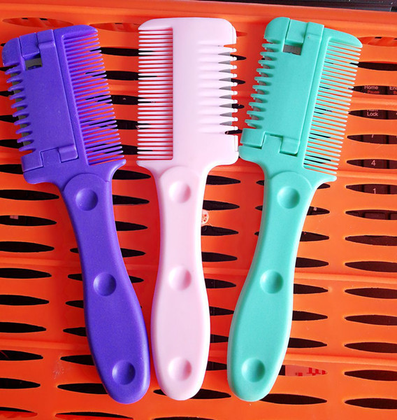 A comb a comb hair cutting knife device for thinning hair cutter head
