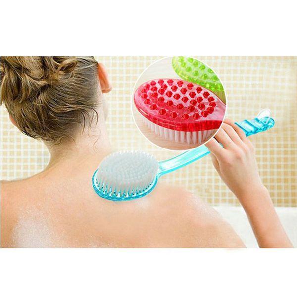 Brosse de bain à long manche Scrub peau Massage Pieds de douche Brosse à frotter pour le dos Exfoliation Brosses Corps pour salle de bain Accessoires
