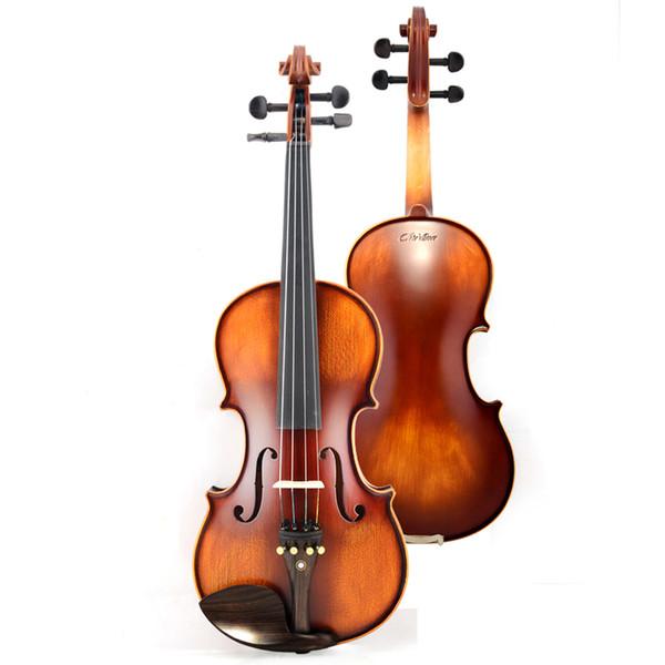 Italy V02 beginner Violin 4/4 Maple Violino 3/4 Antique matt High-grade Handmade acoustic violin fiddle case bow rosin