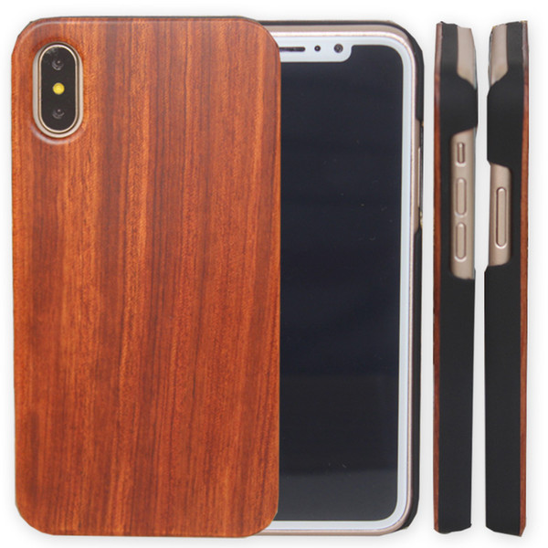 For Iphone X XS Max 8 Wooden Case iphone 7 6 6s plus Cell phone Shell Shookproof Bamboo Wood Phone Cover For Samsung S8 S7 S10 Note 8