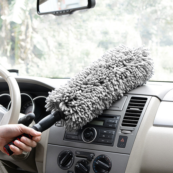 top popular Microfiber Car Duster Brush With Extendable Handle Home Cleaning Tool Multifunction 2021
