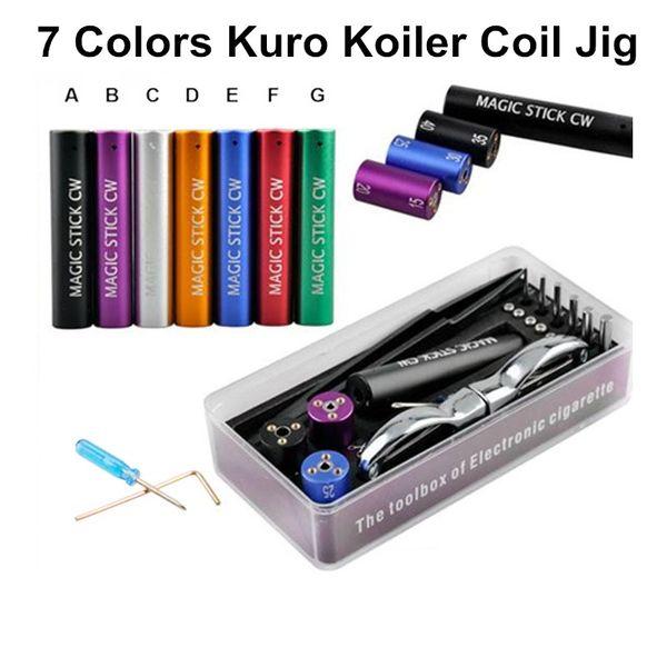Qualtiy New Kuro Koiler Bobina Jig Strumento fai da te Stick magico CW Box Kit Coiler RDA RBA Builder Cavo riscaldante Bobina di sigaretta elettronica