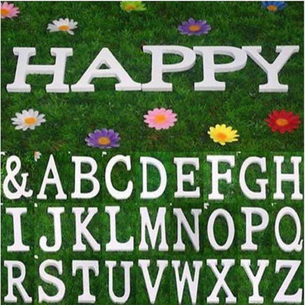 best selling Hot Sale 27PCS SET Home Decor Decoration thick Wood Wooden White Letters Alphabet Wedding Birthday 8cmX1.2cm