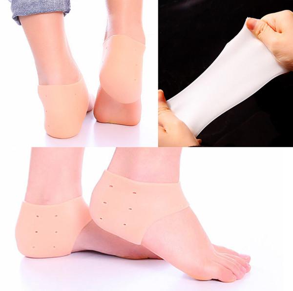 2016 Jel Topuk Kol Nemlendirici Silikon Çorap Topuk Ayak Bileği Ağrı kesici Yastık Kol Silikon Kuru Cilt Nemlendirici Koruyucu E880L