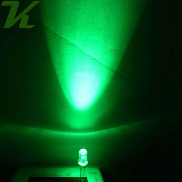 20 LED 5mm VERDE ACQUA CHIARO VERDE diodo Green LED VERDE