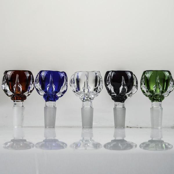 14 мм 18 мм Dragon Claw цветной стеклянный шар многоцветный толстый мужской Бонг чаша высокое качество стеклянная чаша 18,8 мм 14,4 мм для водопроводных труб
