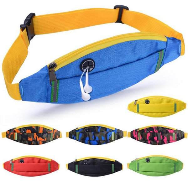 Outdoor men women music cell phone bag pockets waterproof sports night running equipment invisible multi-functional fitness waist bags