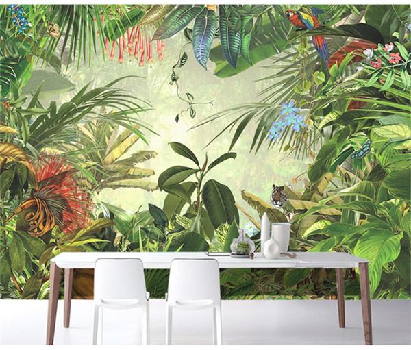 Acheter Sud Est Asiatique Style Papier Peint Foret Tropicale Foret