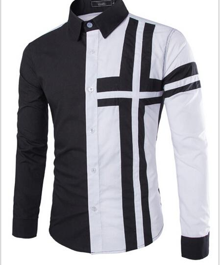 2016 New summer long-sleeved dress shirt M Phillips hit the color design mens casual long-sleeved shirt
