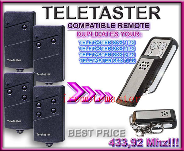 Best price! For Teletaster SKX1LC/SKX2LC/SKX4LC/SKX3LC remote control replacement universal remote with 433.92MHZ
