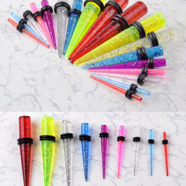 Wholesale Jewelry Bulk Lots Fashion Ear Taper Expander Pierce Mix Color Body Jewelry LR328 Free Shipping