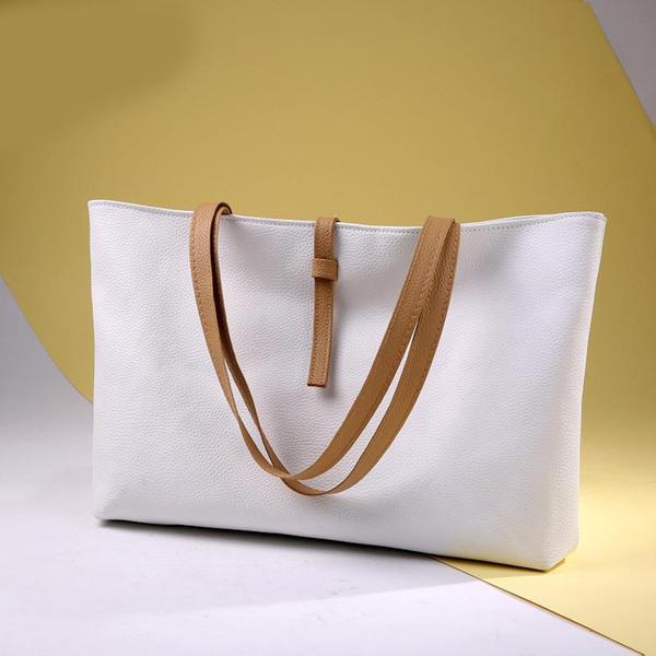 Shoulder Bag Women Version Female PU Bags Fashion Casual Atmosphere Handbag Large Capacity Street Simple Leather Handbags