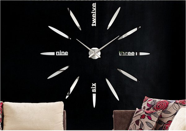 Wholesale 2016 New Large size DIY home decorative wall clock creative wall stickers clock modern design