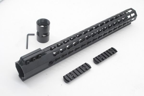 Tactical Ultralight 15 inch Key mod Picatinny Rail for AR15 M4 M16 Free Float Handguard Free Shipping