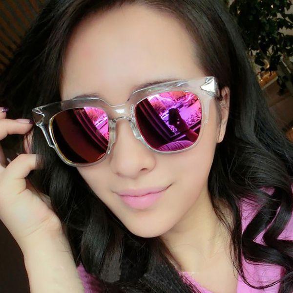 sunglasses ladies fashion  Ladies Fashion Sunglasses Box Arrow Transparent Color Filter Uv ...