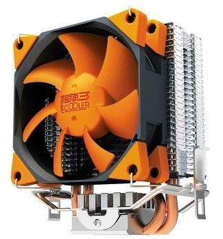 PCCOOLER 1pcs 8cm PWM fan 2 heat pipes CPU cooler XINGHAI S88 for LGA1155/1156/775/AM3/AM2/AM2+/FM1/FM2