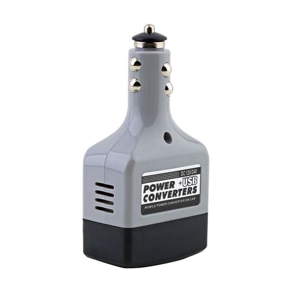 Wholesale- 12V DC to AC 220V Car Auto Power Inverter Converter Adapter Adaptor USB Plug