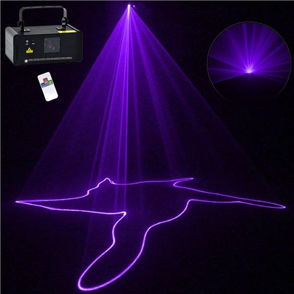 Mini Purple DMX 512 Remote Sound Projector Stage Equipment Light DJ KTV Show Holiday Laser Lighting DM-V150
