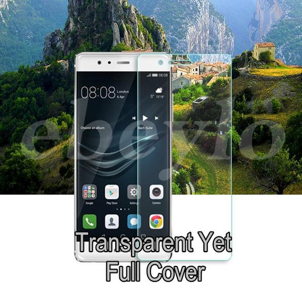 New Arrival!3 Color Huawei P9 3D Curved Glass! Full Cover! Top Quality, with Retail Free Shipping