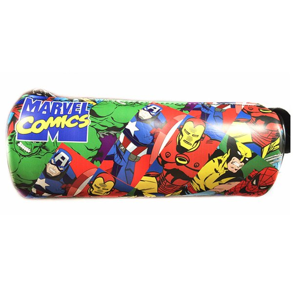 Wholesale- New Arrival Marvel Comics Collection Pencil Pen Case Cases Pouch Men Wallet Women Coin Pouch Wallets Zipper Bag Purse