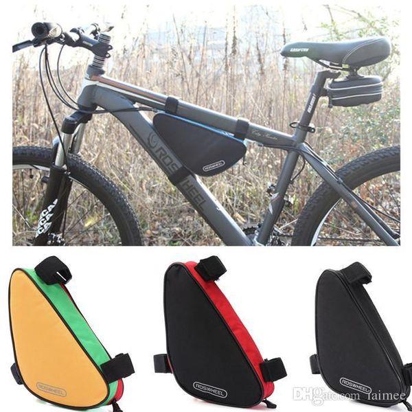 1.5L New Bike Borse Ciclismo Sacchetto anteriore Triangolo Accessori per biciclette Sella Storage Custodia per cellulare Roswheel Outdoor impermeabile
