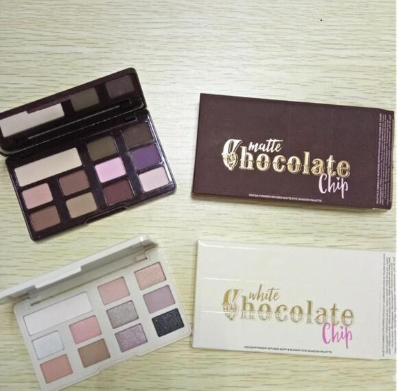Too face chocolate chip eye hadow 11 color two makeup profe ional eye hadow palette white and matte makeup eye hadow dhl hipping