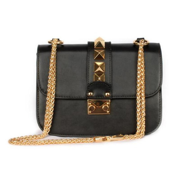 Luxury Designer Handbags High Quality Valentine Italian Genuine Leather Bag Rivet Chain Crossbody Bag Shoulder Bags