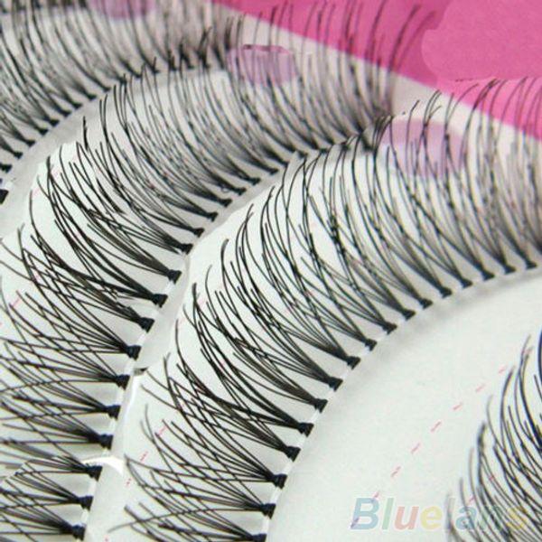 Toptan-10 Pairs Doğal Kalın Uzun Yanlış Eyelashes Sahte Göz Lashes Hacimli Makyaj Seti