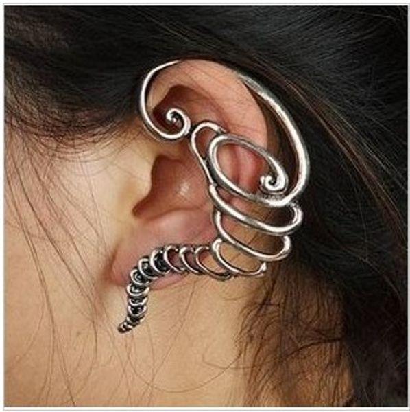 Ear Cuff Earrings Girls Earing Pendientes Mujer Bijoux Vintage Tornado Clip Ear Cuff Earrings For Women Vintage Bronze Silver Plated Jewelry