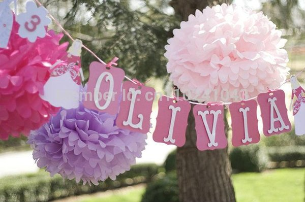 Wholesale-Free Shipping 10pcs 25cm(10inch) Tissue Paper Pom Poms Wedding Party Decoration, Craft Paper Flower Ball Home Decoration