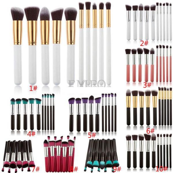 Free DHL 10pcs/set Eye Shadow Foundation Eyebrow Lip Brush Makeup Brushes Tool Brand SGM Design SZ-B04