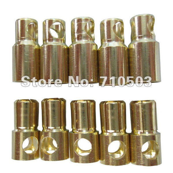 100pairs/lot hot RC Gold Bullet banana golden 6.0mm connector golden bullet rc plug (male/female)